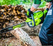Cordless Electric & Battery Chainsaws and Pole Saws | Greenworks