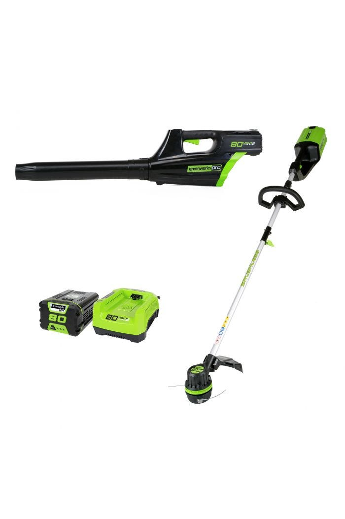 Pro 80V Cordless 16 inch Brushless Trimmer & Blower Combo Kit