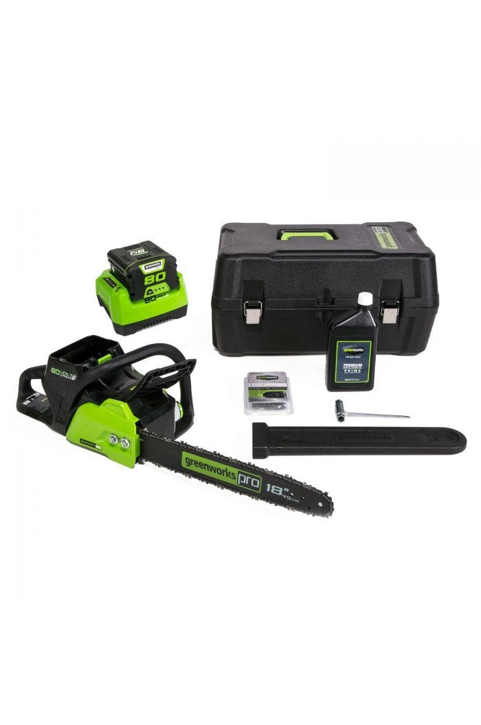 "Pro Cordless 16"" Brushless Chainsaw w/ 2.0 Ah Battery"