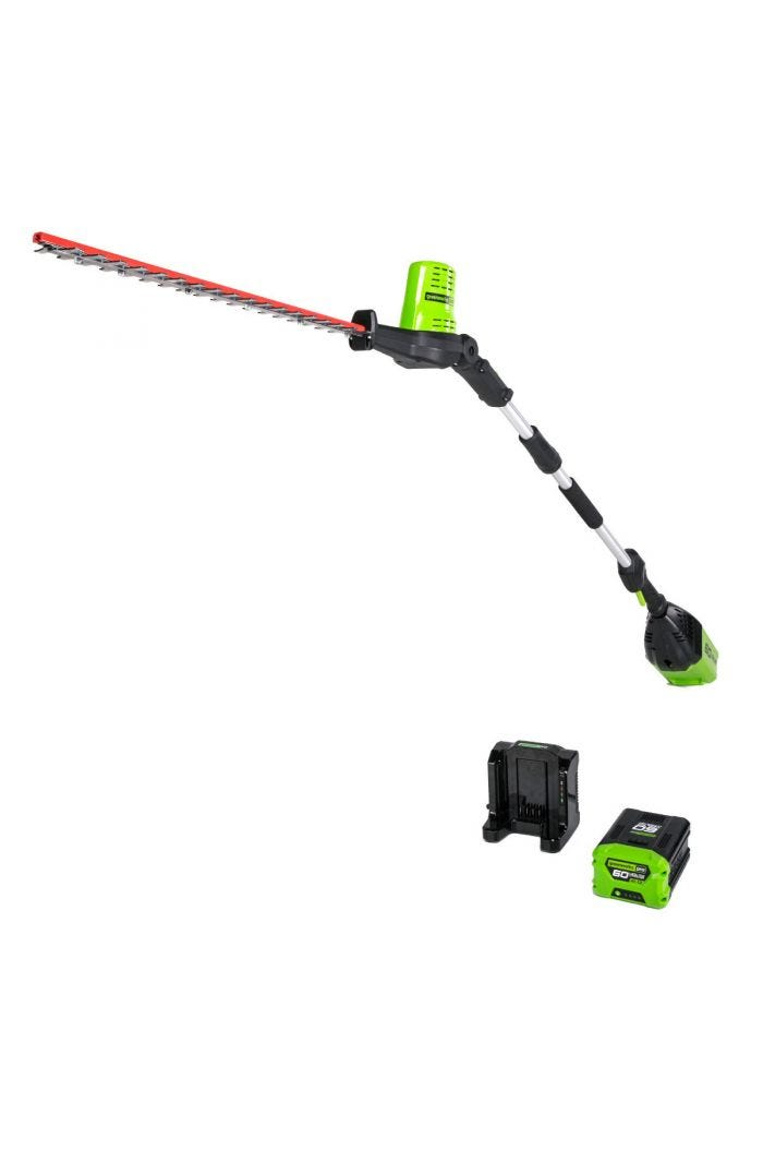 Pro 60V 20 inch Cordless Pole Hedge Trimmer with 2.0 Ah Battery
