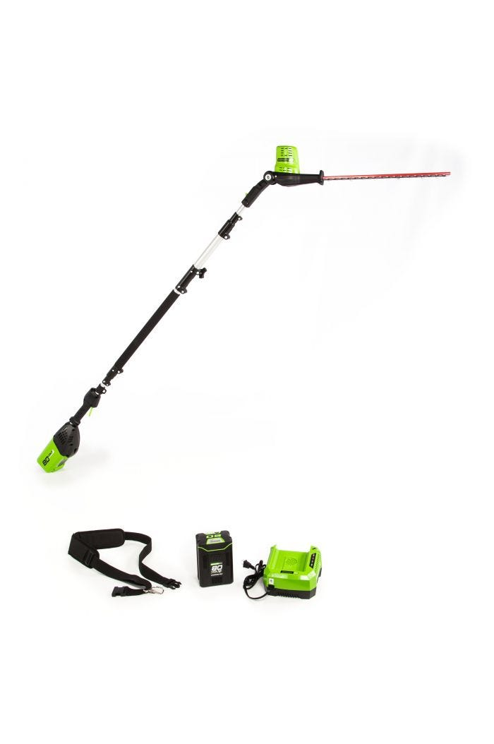 Pro 80V Cordless 20 inch Pole Hedge Trimmer
