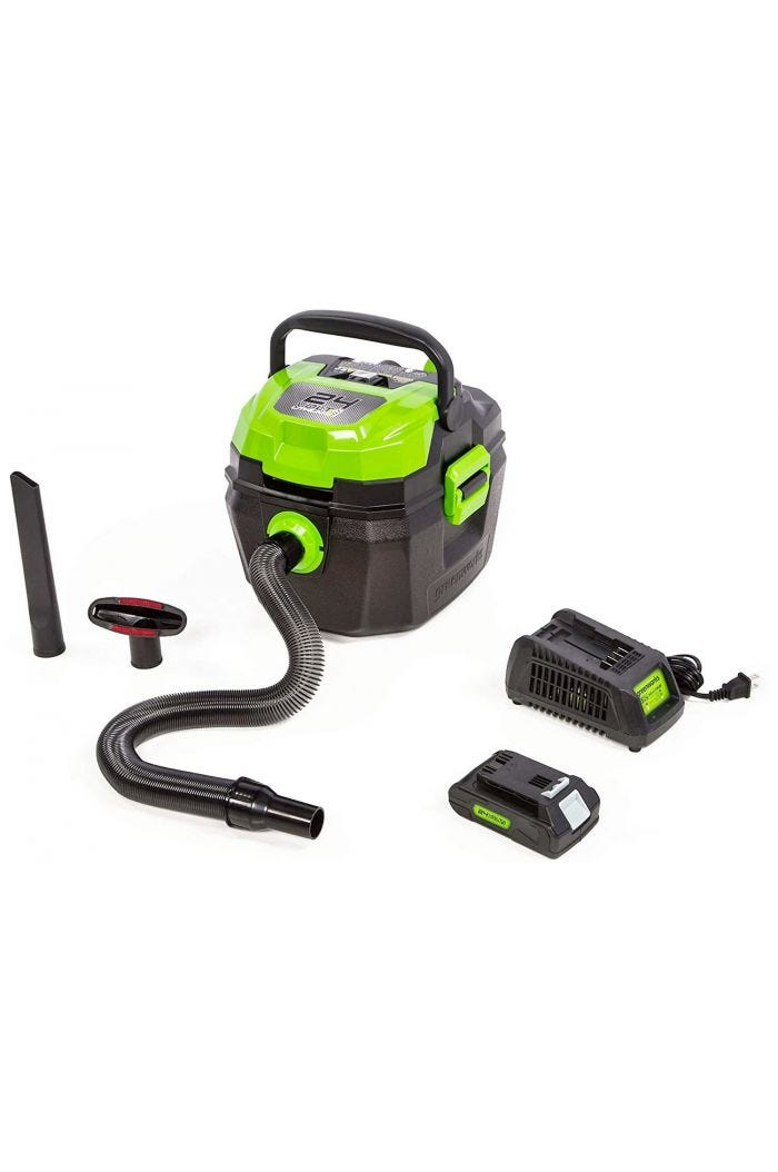 Greenworks 24V Cordless 3 Gallon Wet/Dry Shop Vacuum - 4700402