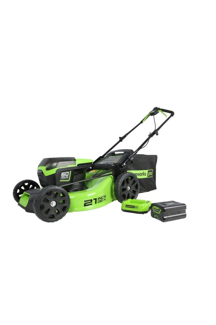 Pro 60V 21 inch Cordless Brushless Lawn Mower with 4.0 Ah Battery