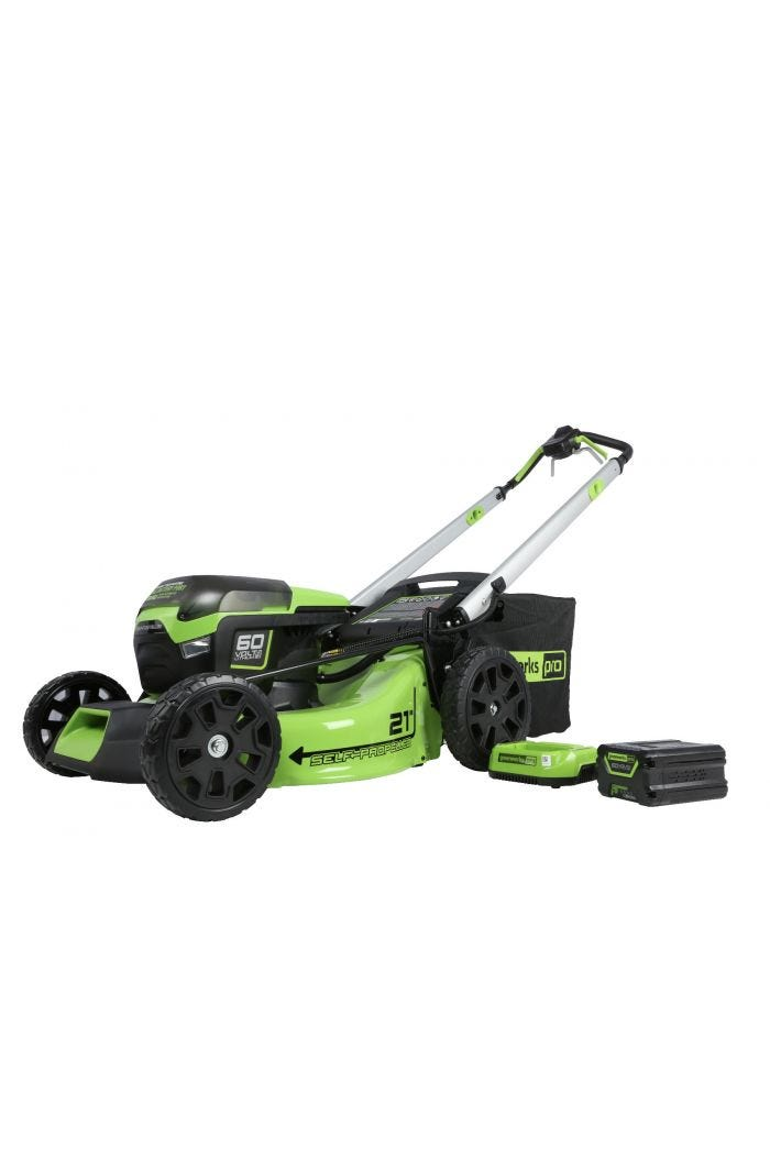 Pro 60V 21 inch Cordless Self-Propelled Brushless Lawn Mower with 5.0 Ah Battery