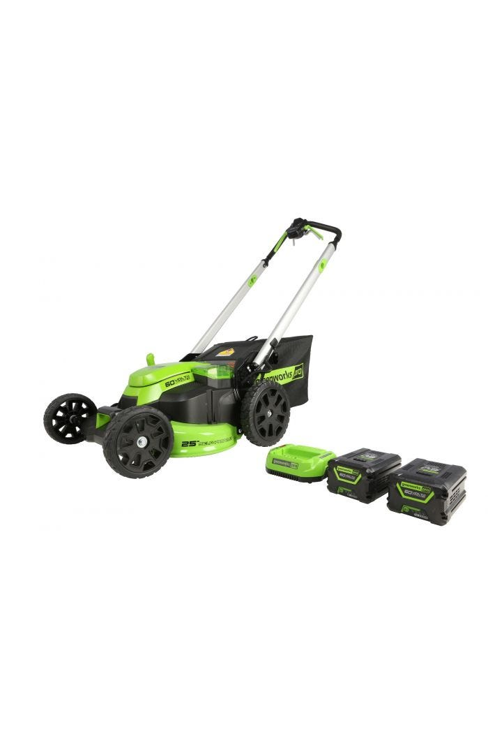 60V 25-Inch Self-Propelled Brushless Lawn Mower | Greenworks Pro