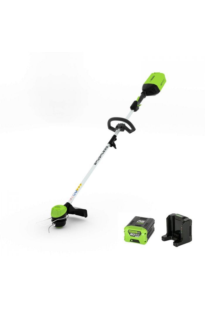 Pro 60V 16 inch Cordless Brushless String Trimmer with 2.0 Ah Battery