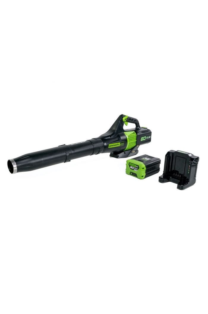 Pro 60V Cordless Brushless Axial Leaf Blower with 2.5 Ah Battery