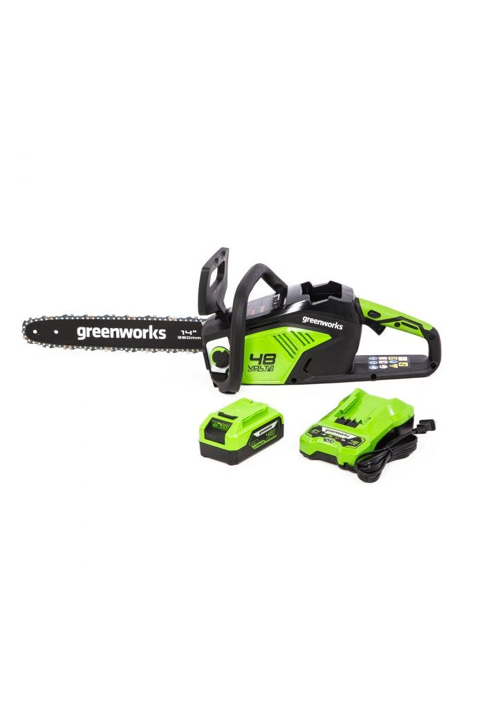 "48V Cordless 14"" Chainsaw w/ 2.5 Ah Battery"