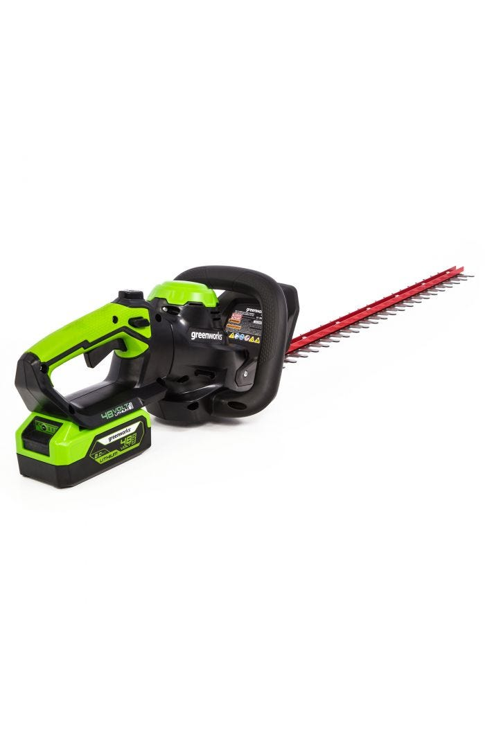 "48V Cordless 24"" Hedge Trimmer w/ 2.0 Ah Battery"