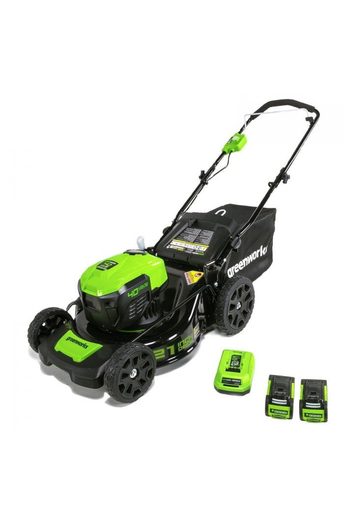 40V 21 inch Cordless Brushless Lawn Mower with (2) 2.5 Ah Batteries