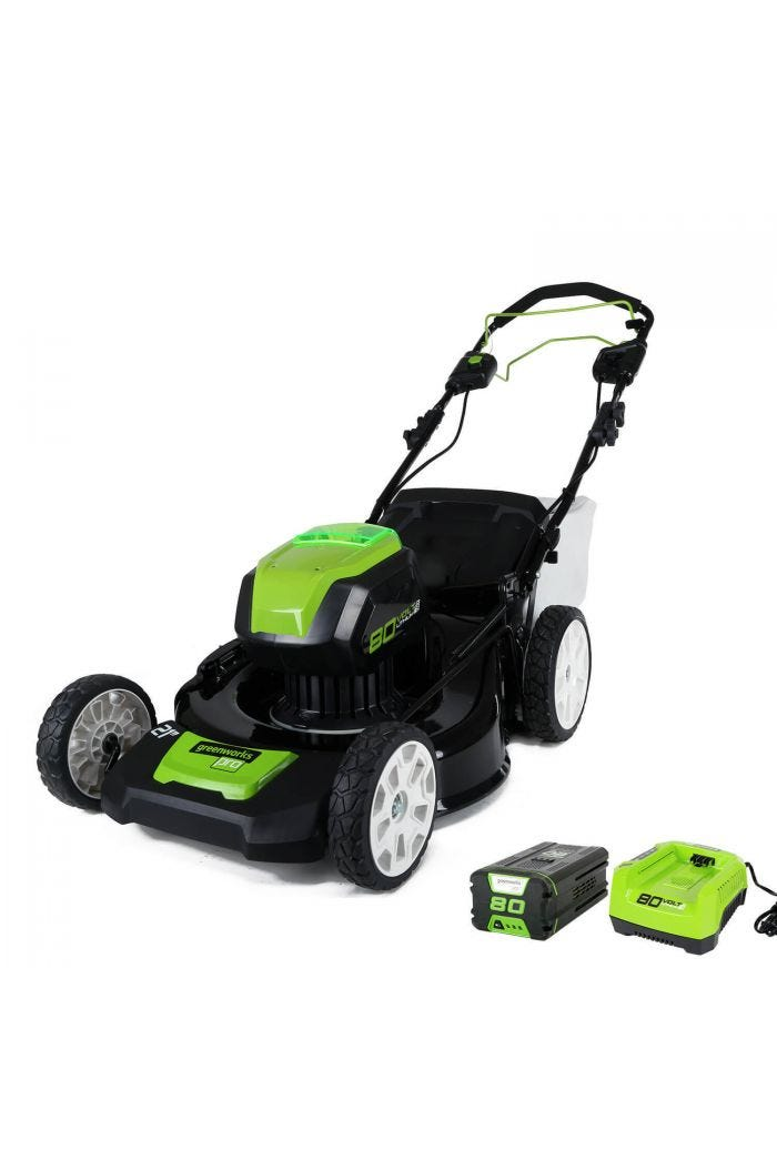 "80V Cordless 21"" Self-Propelled Brushless Lawn Mower 