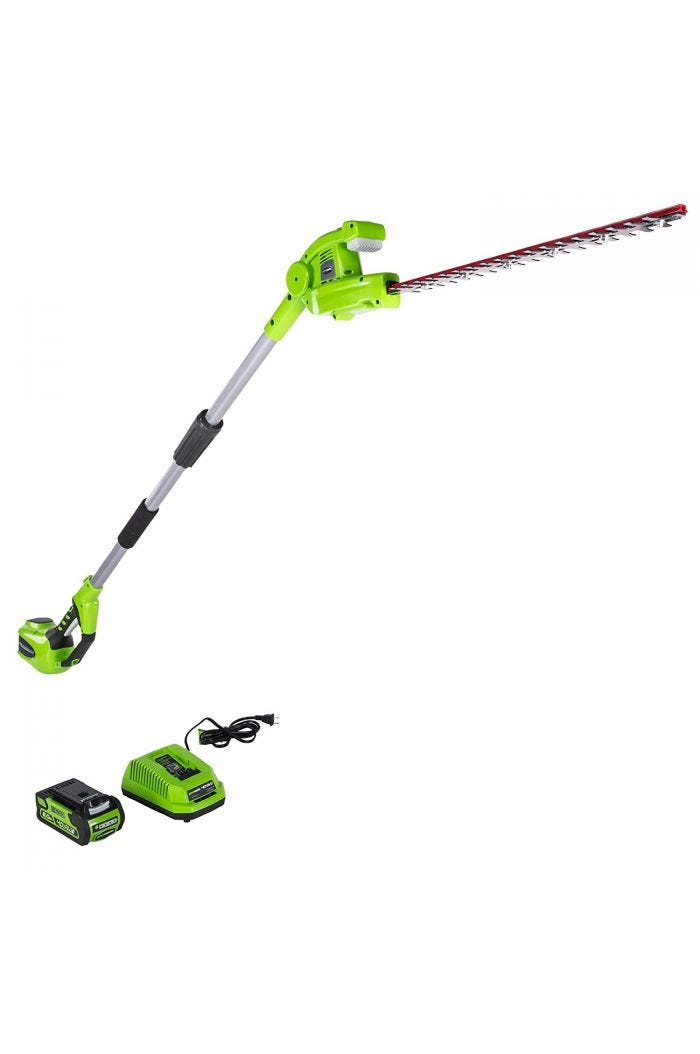 40V 18 inch Cordless Pole Hedge Trimmer with 2.0 Ah Battery